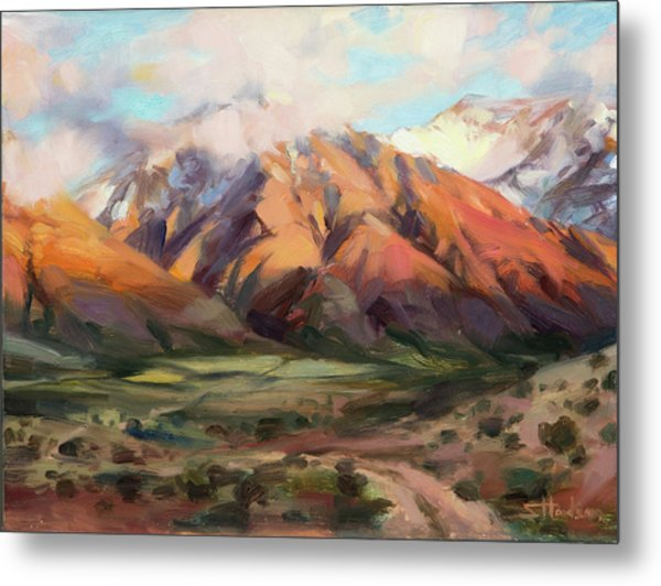 Metal Print featuring the painting Mt Nebo Range by Steve Henderson