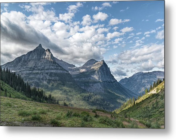 Metal Print featuring the photograph Mt. Oberlin From Logan Pass by Jemmy Archer