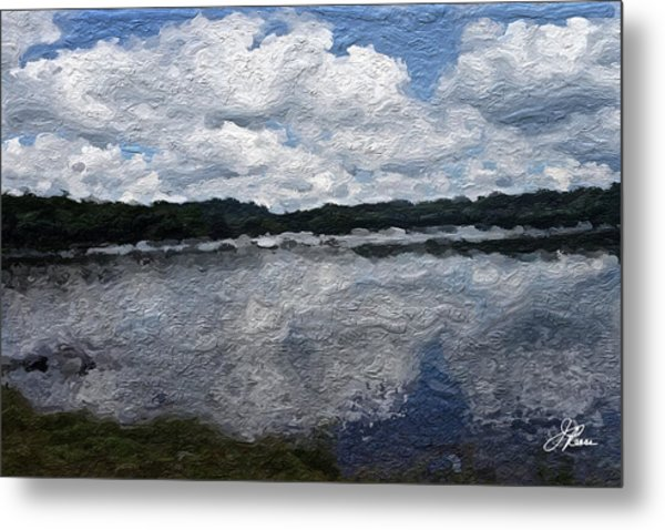 Metal Print featuring the painting Mt. Pocono Landscape by Joan Reese
