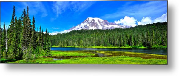 Mt. Rainier From Reflection Lakes Metal Print