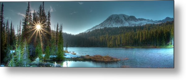 Mt. Rainier Sunrise Metal Print