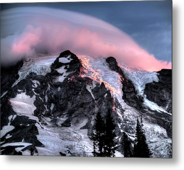 Mt Rainier Sunrise Fine Art Photograph Metal Print