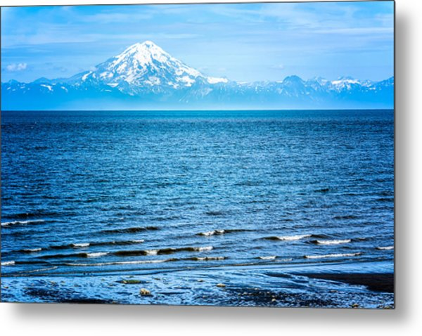 Mt. Redoubt Cooke Inlet Metal Print