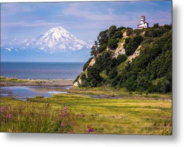 Mt. Redoubt From Ninilchik Beach Metal Print