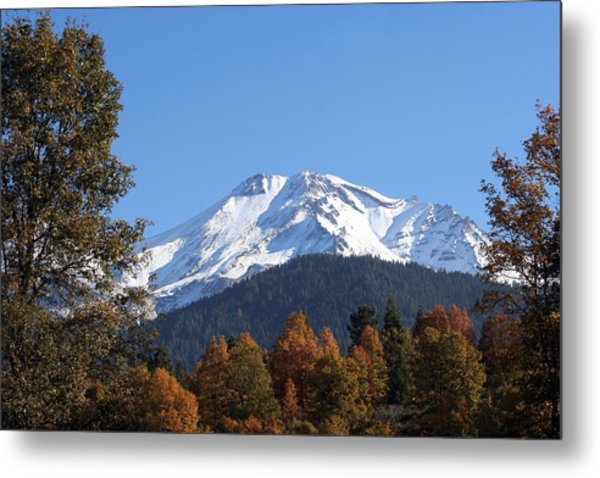 Mt. Shasta Framed Metal Print by Holly Ethan