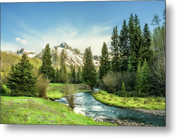 Metal Print featuring the photograph Mt. Sneffels Peak by Angela Moyer