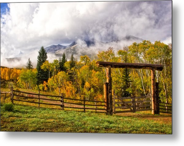 Mt Sopris Under The Clouds Metal Print