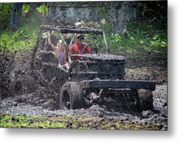 Mud Bogging Metal Print