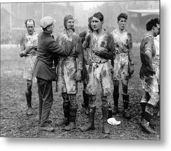 Muddy Players Metal Print by Hulton Collection