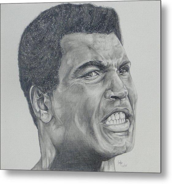 Muhammad Ali Metal Print by Stephen Sookoo