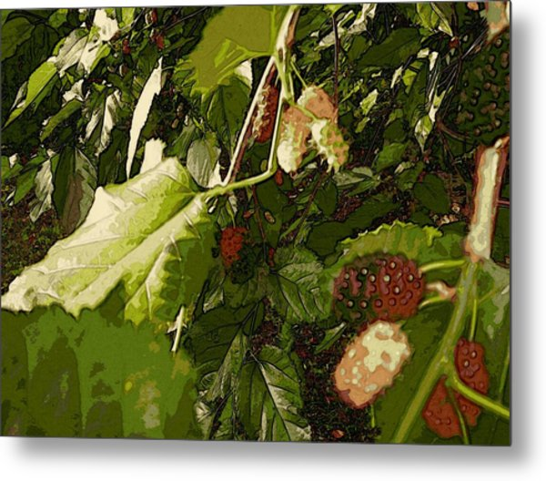 Mulberry Moment Metal Print