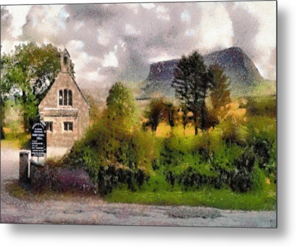 Mullaghnaneane Church And Ben Bulben Metal Print