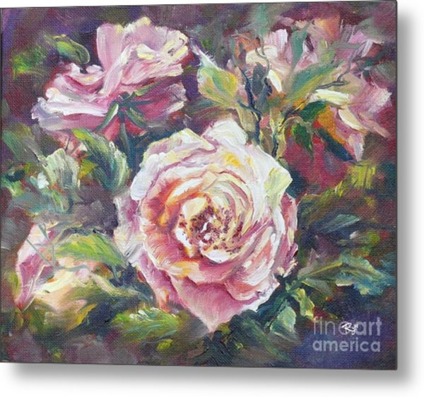 Multi-hue And Petal Rose. Metal Print