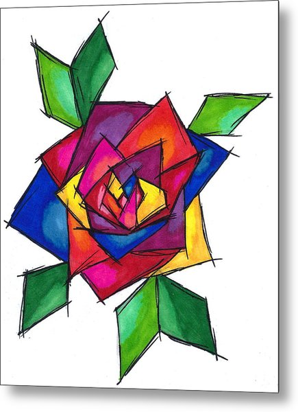 Multi Rose Metal Print