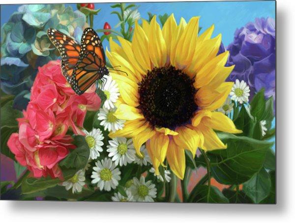 Multicolor With Monarch Metal Print