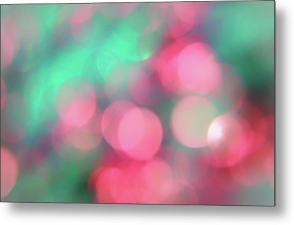 Multicoloured Bokeh Metal Print