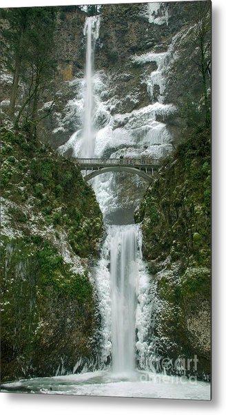 Multnomah Falls Ice Metal Print