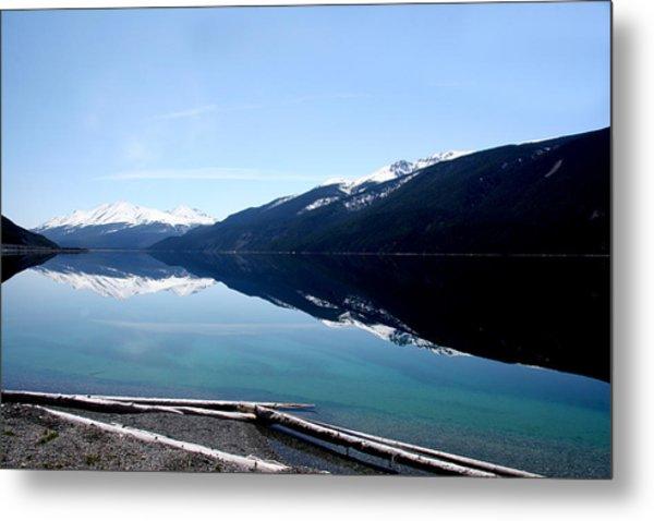 Muncho Lake Reflections Metal Print by Dave Clark