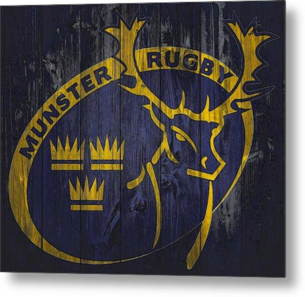 Munster Rugby Graphic Barn Door Metal Print