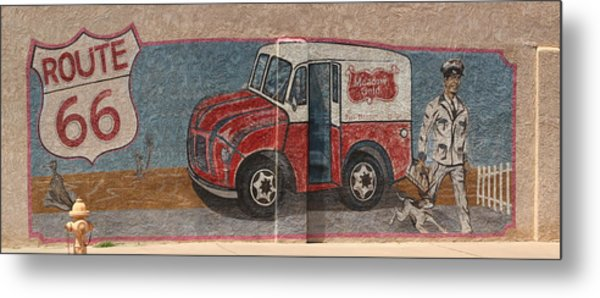 Mural On Historic Route 66 Metal Print