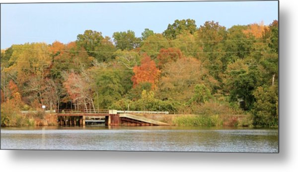 Murphy Mill Dam/bridge Metal Print