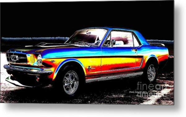 Muscle Car Mustang Metal Print