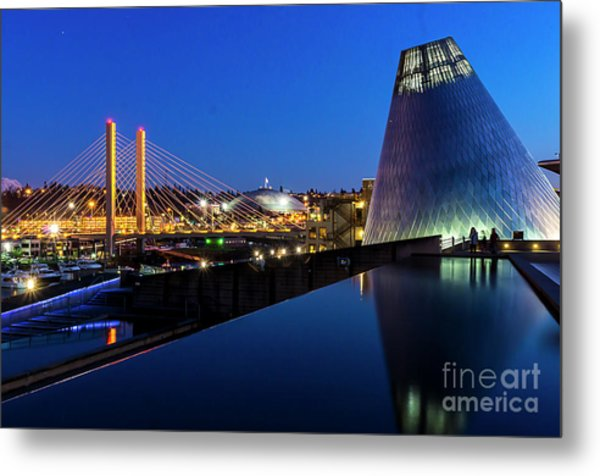 Museum Of Glass At Blue Hour Metal Print