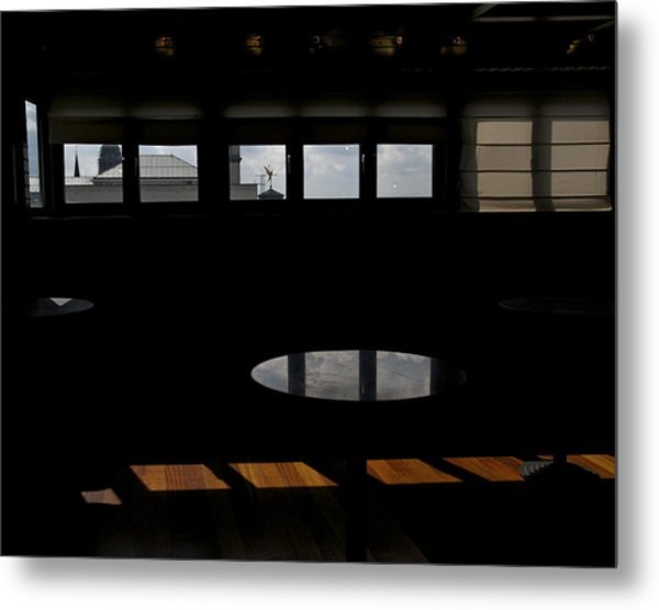 Museum Of Music Interior Metal Print by Mark Chevalier