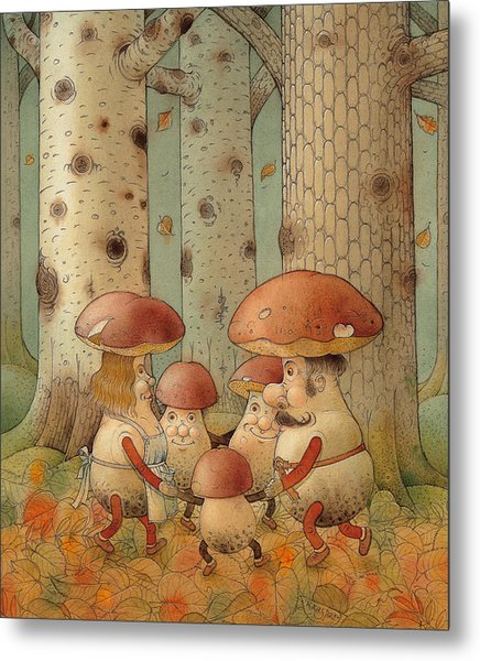 Mushrooms Metal Print by Kestutis Kasparavicius