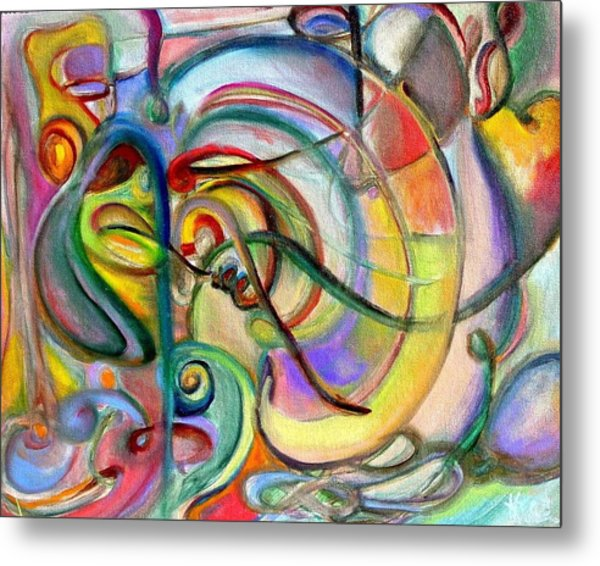 Music Abstract Metal Print by Kathy Dueker