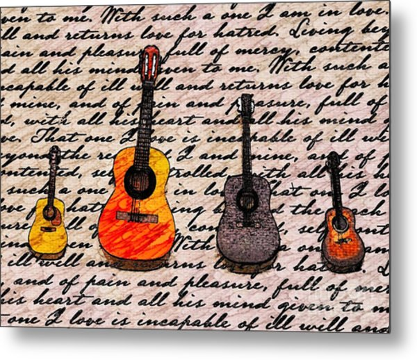 Music And Poetry By Jasna Gopic Metal Print