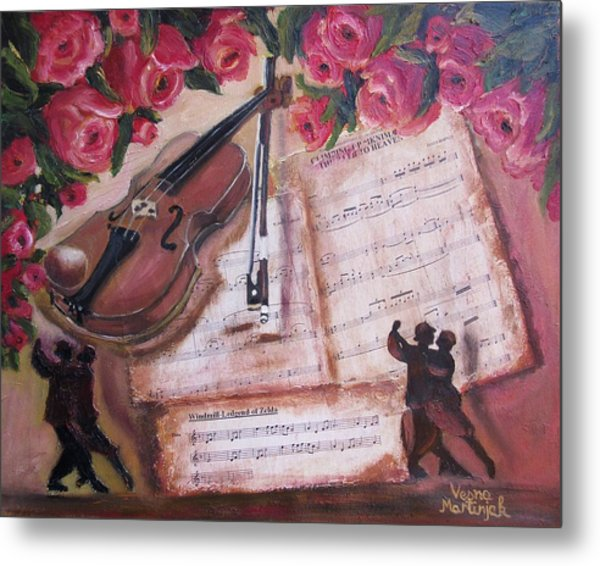 Music And Roses Metal Print