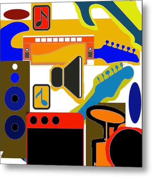 Music Collage Metal Print