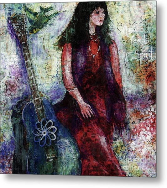 Metal Print featuring the digital art Music Feeds Her Spirit Too by Claire Bull