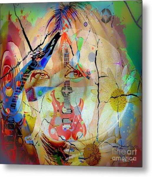 Metal Print featuring the digital art Music Girl by Eleni Mac Synodinos