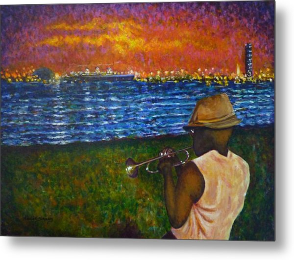 Music Man In The Lbc Metal Print