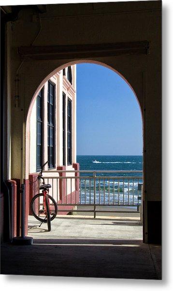 Music Pier Doorway View Metal Print