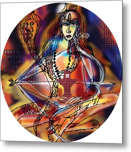 Music Shiva Metal Print