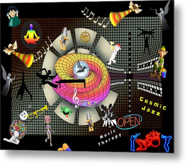 Music Therapy Metal Print