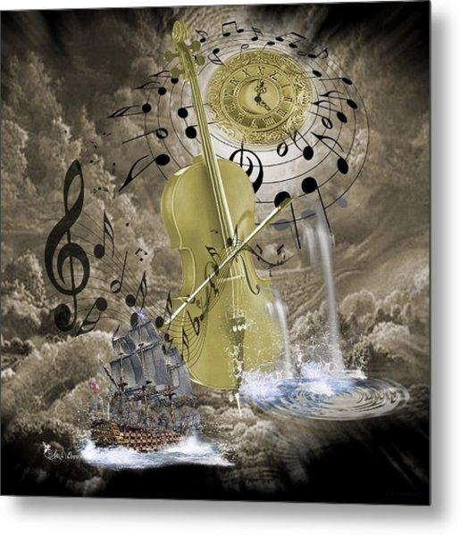 Music Time Metal Print