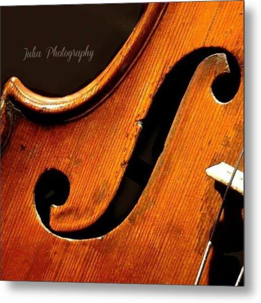 #music #violin #instrument #classic Metal Print