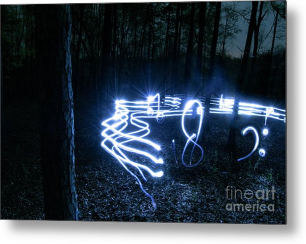 Music Woods Metal Print
