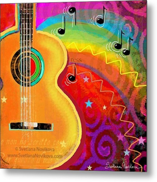 Musical Whimsy Painting By Svetlana Metal Print