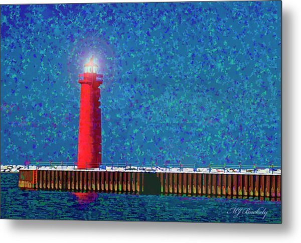 Muskegon Lighthouse Metal Print by Marti Buckely