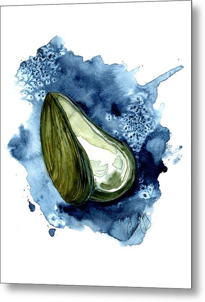 Mussel Shell Metal Print