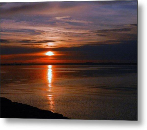 Musselburgh Sunset Metal Print by Nik Watt