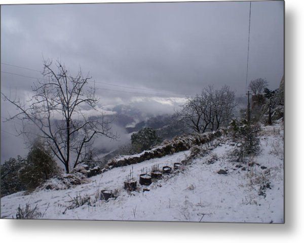 Mussoorie Winter - 2 Metal Print by Padamvir Singh