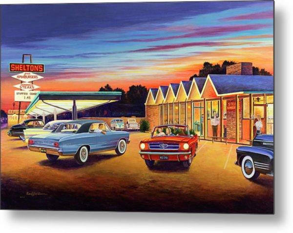 Mustang Sally - Shelton's Diner 2 Metal Print