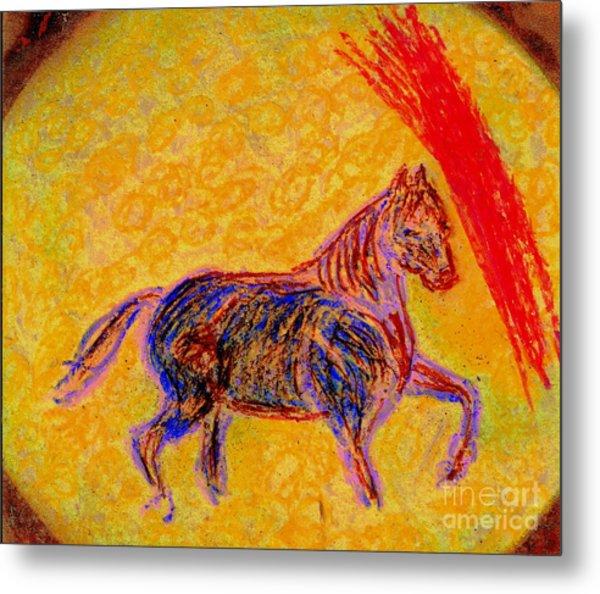 Mustang Stallion Metal Print