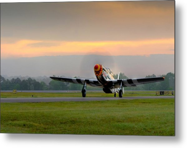 Mustang Sunrise Metal Print